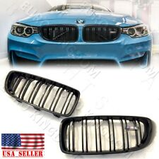 For BMW 14+ F32 F36 435i 428i F82 F83 M4 F80 M3 Gloss Piano Black Kidney Grille