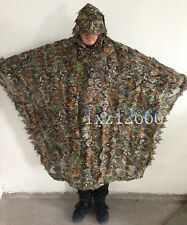 3D Breathable Leaf Yowie Ghillie Sniper Birdwatching Poncho Suit