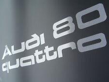 """""""Audi 80 quattro""""  / Urquattro Aufkleber im org. Rasterdruck Typ 81 / 85 weiss"""
