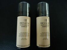 Revlon PhotoReady Airbrush Mousse Makeup - SHELL  #020 - TWO - Both New / Sealed