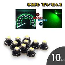 10PCS Green T4.2 1SMD LED Bulb Wedge Gauge Cluster Dash Light Instrument Panel