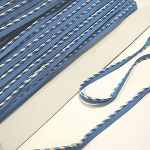 Full roll 22 metres of vintage Blue/white 8mm wide GIMP braid CRAFT SEWING