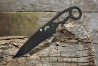 Master USA Fixed Blade Tactical Neck Knife with Sheath and Lanyard MU-1119BK