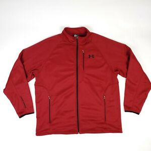Under Armour UA Red Full Zip Track Warm Up Jacket Adult Men's XL