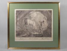 GRAVURE EQUESTRE, Le cheval de Croatie, J.E. Ridinger, XIXème, encadrée