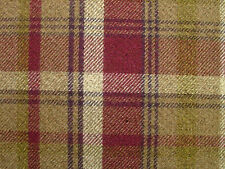 Elgin Heather Wool Effect Washable Thick Tartan Check Upholstery Curtain Fabric