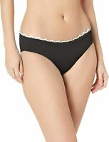 Anne Cole Womens Swimwear Black Size Medium M Retro Bikini Bottom $48- 045