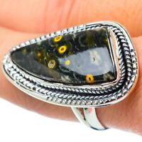 Huge Ocean Jasper 925 Sterling Silver Ring Size 8.75 Ana Co Jewelry R31533F