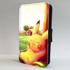 Pikachu Pokemon Funda para Estuche de Teléfono Abatible para dormir IPHONE SAMSUNG
