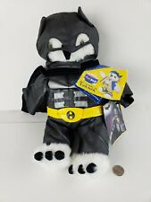 "Build a Bear "" Turner Owl"" & 2 Piece The Dark Knight Rises Batman Outfit"