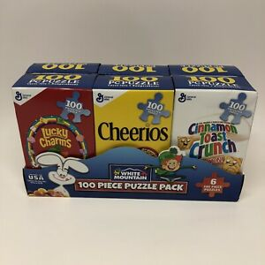 White Mountain Puzzles Mini Cereal Boxes 6 Pack 100 Pcs Puzzles