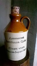 Vintage Stoneware Bottle Farmhouse Cyder  Zummerset