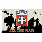 U.S. Army 82nd Airborne Flag with Grommets 3ft x 5ft Black Background