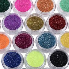 12 Colors Nail Art Decoration Metal Powder Glitter Dust Set For UV Gel Acrylic
