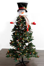 Christmas Snowman 3D Tree Topper Hugger Holiday Ornament Decorations