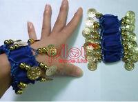 New Belly Dance Costume Hip Scarf Skirt Bead Gold Coin Dancer Dancing Wrap Belt