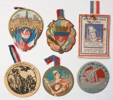 6 badges décoration découpis chromo  WW1 1914-1918 et 1940 guerre mondiale poilu