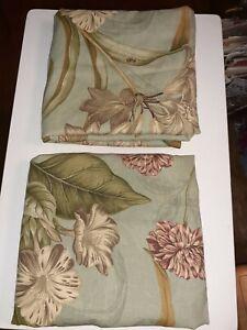 Williamsburg Waverly Pillow Shams Charlotte Floral Butterflies Green