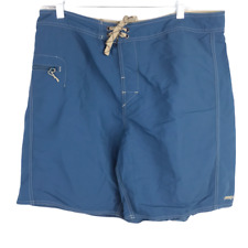 Patagonia Mens sz 36 Stretch Wavefarer Superior Solid Blue Boardshorts NWOT