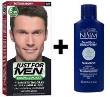 Just For Men Hair Colour Shampoo In Dye Colouring MEDIUM BROWN + Nisim Shampoo
