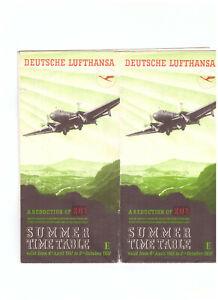 GERMANY DEUTSCHE LUFTHANSA 1937 SUMMER PASSENGER TIMETABLE BROCHURE MAP