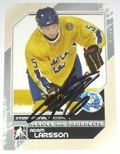 ADAM LARSSON SIGNED 10-11 ITG PROSPECTS TEAM SWEDEN CARD AUTOGRAPH AUTO!!