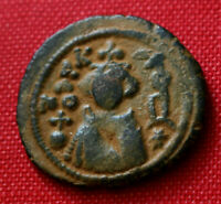 Genuine Arab Byzantine Umayyad Caliphate Coin Homs Emesa Fals 65AH 685AD