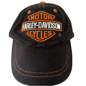 Harley Davidson Youth (4-7) Baseball Cap Hat Adjustable World Famous Motorcycles