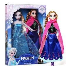 "2PCS Birthday Gift Playset Frozen Princess Elsa&Anna 12"" 30CM Doll Figures toy"