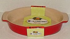 "Le Creuset Oval Baking Dish 11"" Red NEW Poterie Stoneware"