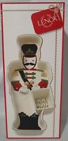 """Lenox Holiday Toy Soldier Christmas Chip & Dip Server - 16 3/4"""" Entertaining"""