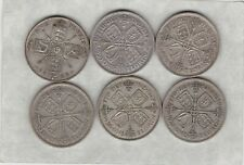 More details for george v silver florins 1923/1928/1929/1930/1931 & 1936 in good fine condition