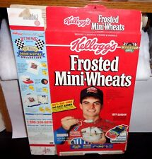 Jeff Gordon 1993 Kellogg's Frosted Mini-Wheats Rookie Commemorative Red Box Flat