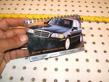 Mercedes 1999 C class C280 SPORT owner's Quick Tips small OEM 1 Booklet,99 W202