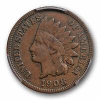 1908 S 1C Indian Head Cent PCGS VF 30 Very Fine to Extra Fine Key Date Original