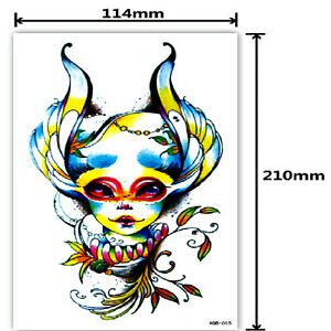 One Temporary Tattoo.large tattoo.Waterproof Ladies,man.removable large.21x12 MM