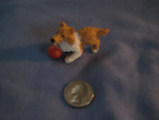 "Vtg Hasbro Puppy in My Pocket 1994 ""BLAIR"" collie with red ball"