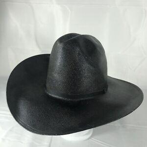 Resistol Western Straw Cowboy Men's Hat Size 7 3/4 Black