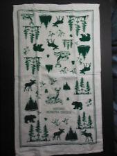 "HISTORIC VERNORIA, OREGON  terry towel with bear/moose design - NEW, 16""x27"""