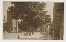 Devon postcard - Chagford (Shows the Church and Three Crowns Hotel)