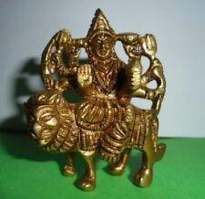 Rare Brass Durga Ma Handmade Statue Navratri Puja Hindu Goddess Religious Idol