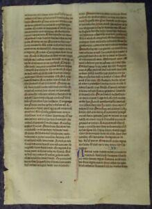 DEKORATIVES PERGAMENT BIBEL HANDSCHRIFT INITIALEN ENGLAND ca. 1260 #C109