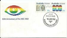 1982 50th Anniversary ABC set 2 Joined pair  FDI 16 Jun 1982 Kallangur Qld 4503