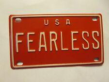 Personalized U S A FEARLESS Fosdick Mini Bike Vanity Name License Plate 3