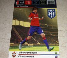 CARD ADRENALYN FIFA 365 CALCIATORI PANINI CSKA FERNANDES CALCIO