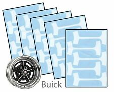 1964-84 Buick Gran Sport GS GSX 14 & 15 Rally Wheel Paint Mask Stencil Kit Set