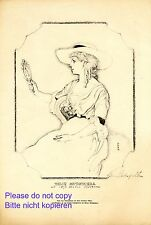 Actress Tilly Kutschera XL 1920 art print by Hans Strohofer Burgtheater Vienna