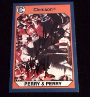 MICHAEL DEAN PERRY 1990 COLLEGIATE Autographed Signed FOOTBALL Card 111 CLEMSON