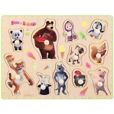 Masha and the bear. Wooden puzzle  for kids