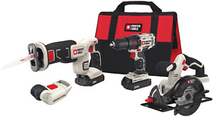 Circle Saw & Drill Combo Kit PORTER-CABLE Cordless Power 4-Tool, PCCK616L4 NEW*